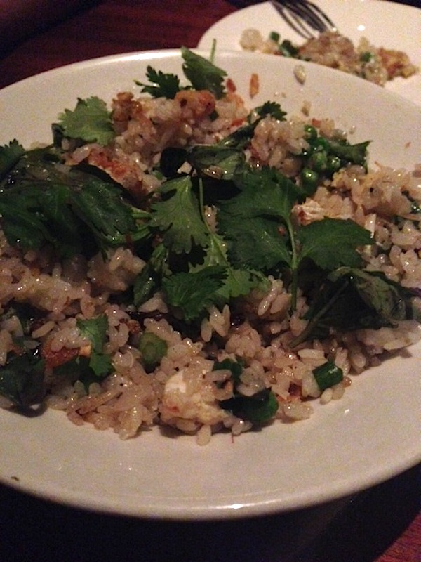 Sway's blue crab fried rice
