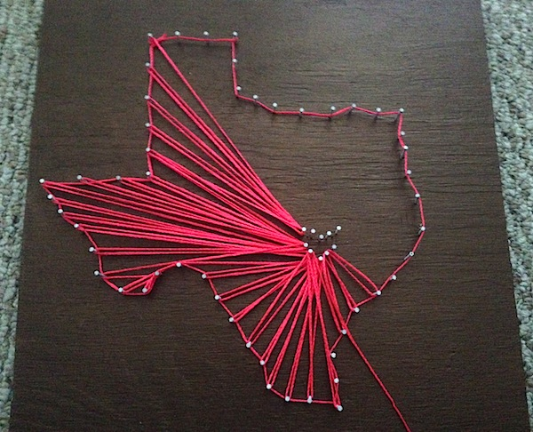 Texas Inspired String Art